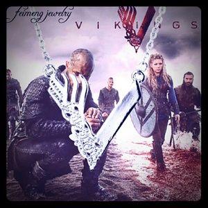 Vikings TV Show Viking Pendant Necklace Ragnar